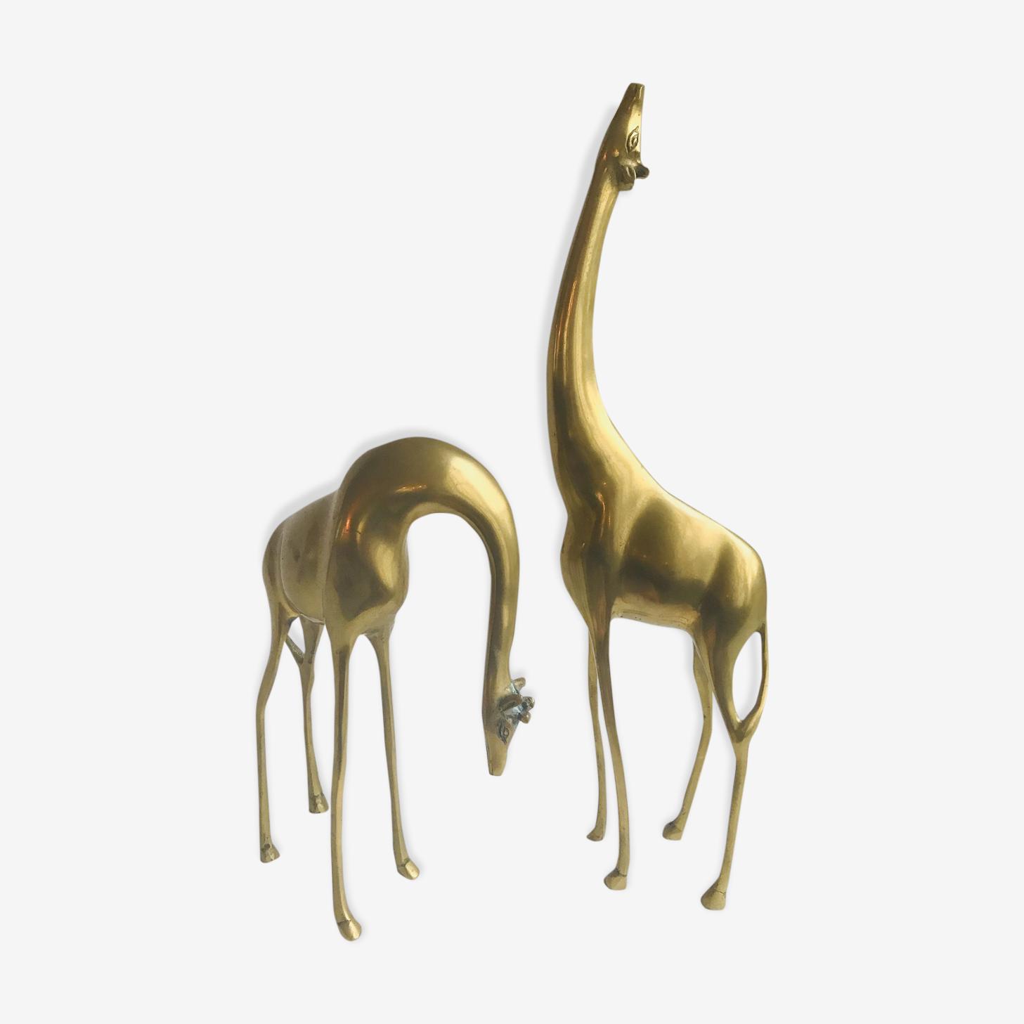 Couple vintage girafe laiton