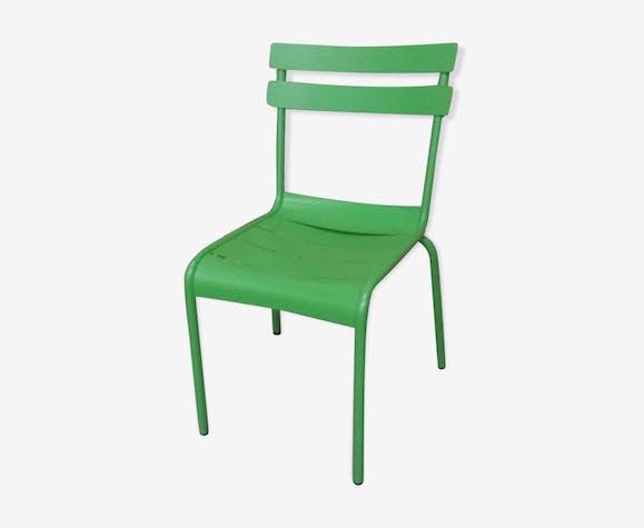 Chaise Metal De Jardin Ou Terrasse Bistrot Vert Pomme Fermob