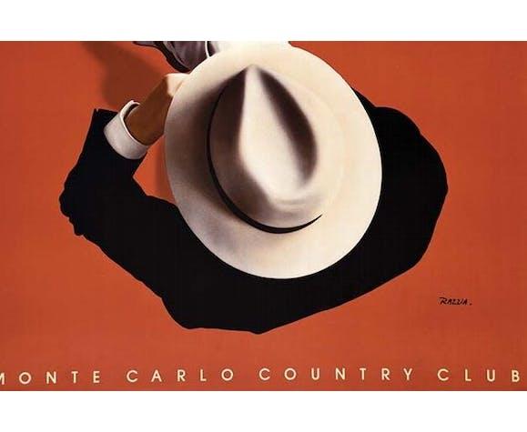 Affiche originale Razzia Monte Carlo Country Club, 1986