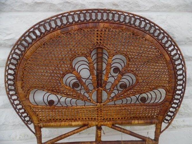 Tete de lit vintage Peacock