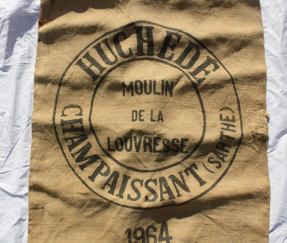 Old jute mill bag Sarthe