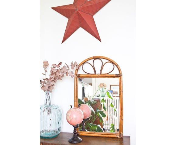 Miroir en rotin - 64x39cm