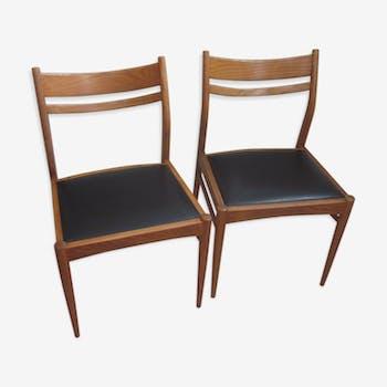 Pair of scandinavian teak chairs