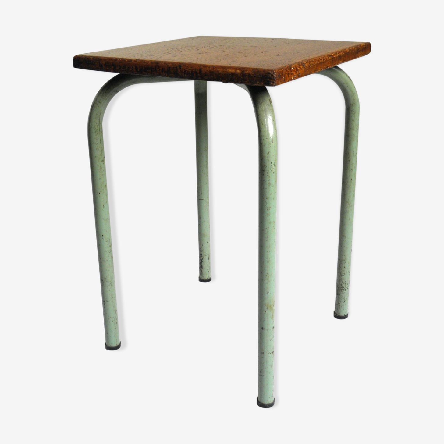 Tabouret d'atelier assise carrée années 60