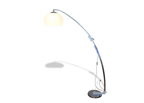 lampadaire arc by goffredo reggiani vintage 1960s m tal argent couleur vintage 139901. Black Bedroom Furniture Sets. Home Design Ideas