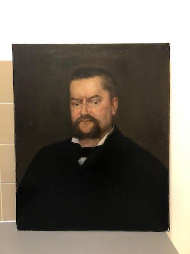 Portrait ancien xix huile