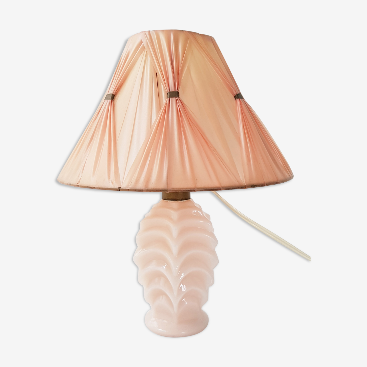1950 glass bedside lamp
