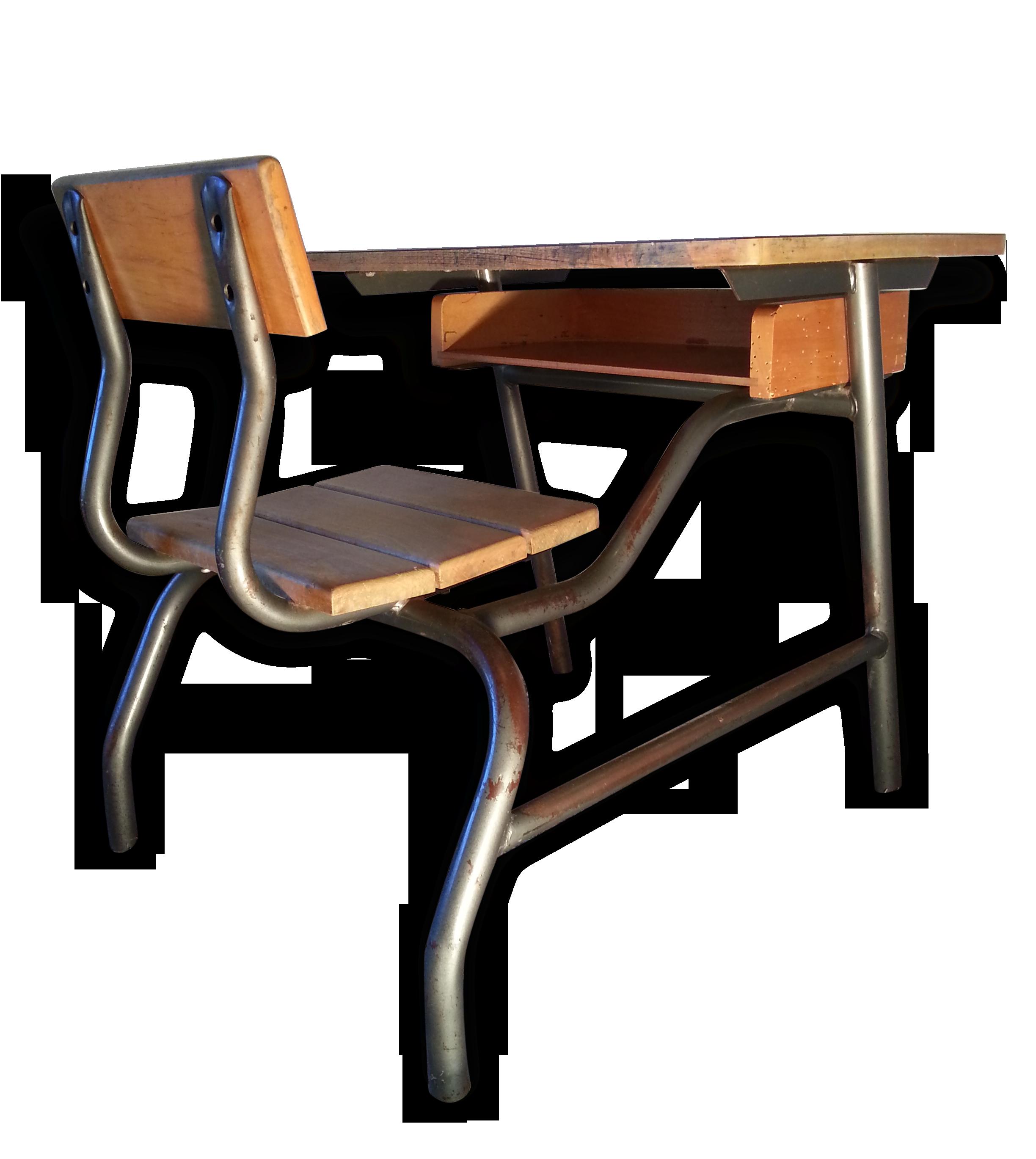 Bureau d écolier en bois et formica le vrai pupitre des années
