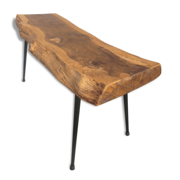 Table basse vintage raw design tronc d 39 arbre bois for Table plateau tronc d arbre