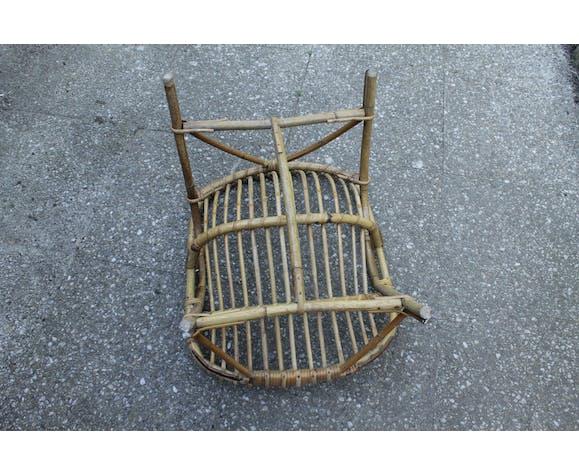 Child armchair in rattan