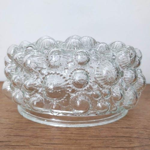 Plafonnier bulles vintage en verre