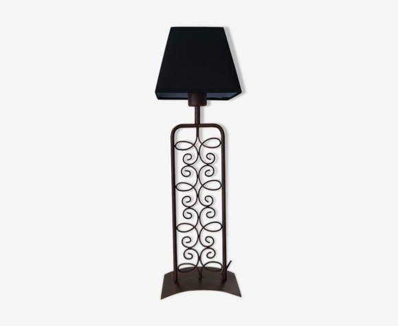 Wrought iron lamp 1980