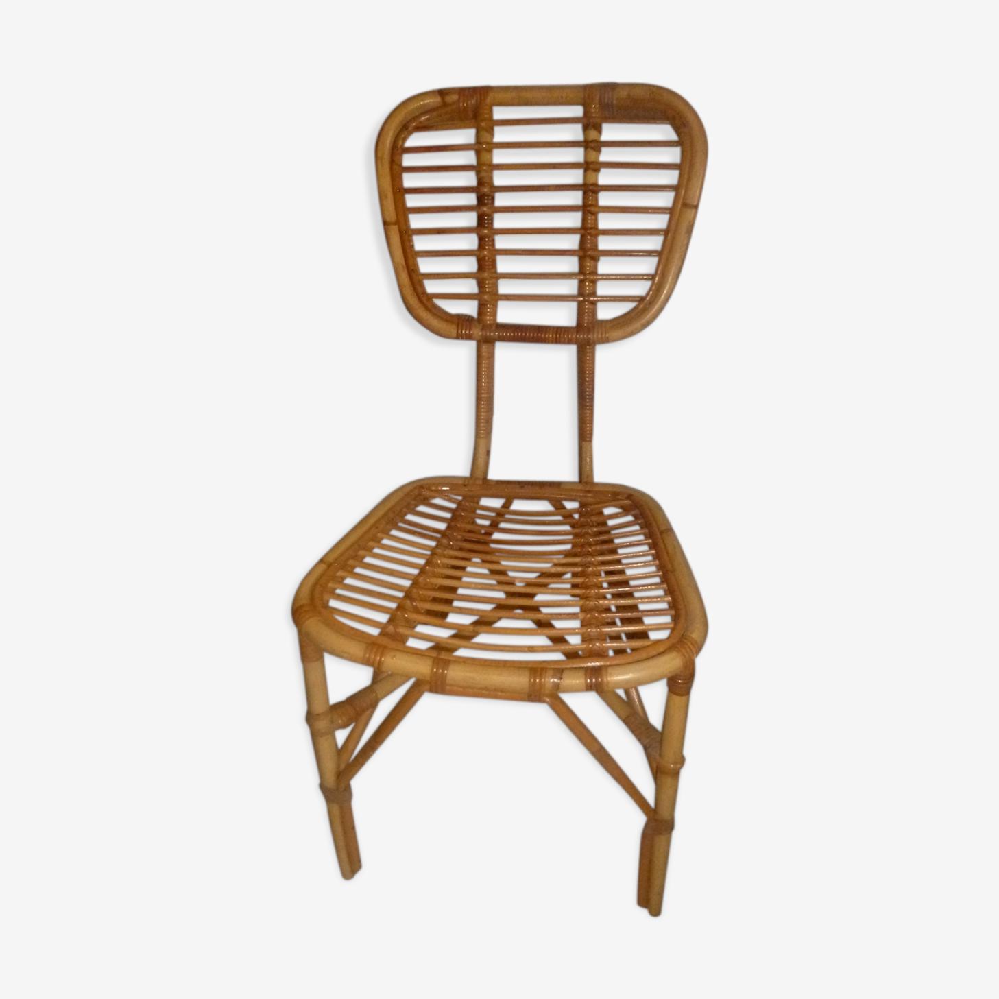chaise osier rotin vintage