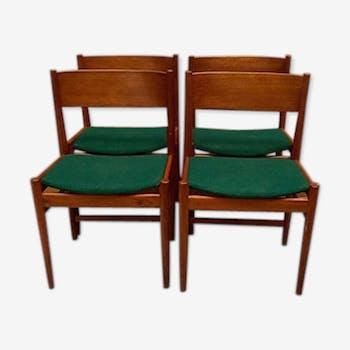 Ensemble de 4 chaises de salle à manger en teck