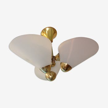 Chandelier 60s brass