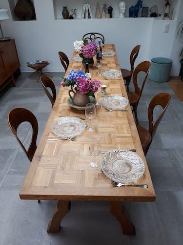 Former large branded farm table