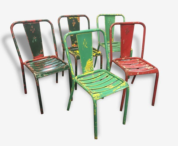 Set Of 12 Original T4 Tolix Chairs