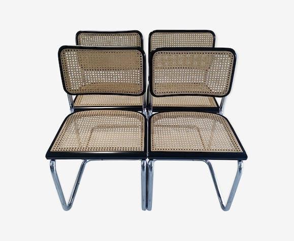 Suite de 4 chaises Cesca B32 Marcel Breuer 1992