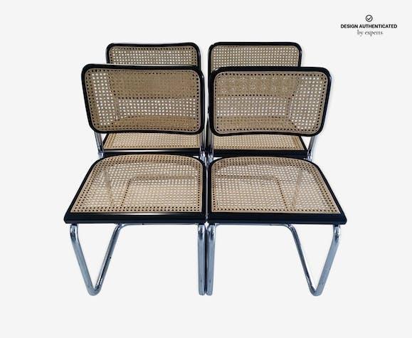 Suite of 4 chairs Cesca B32 Marcel Breuer 1992
