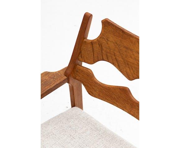 Chaises faciles 'Razor blade' par H. Kjaernulf, Danemark 1960