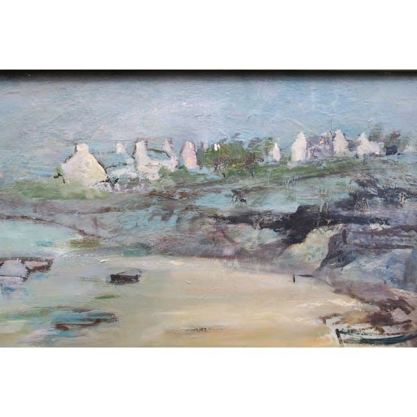 Nouvel Peinture bord de mer Bretagne salon des artistes 1970 | Selency WY-78