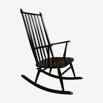 Black rocking chair of the 1950s/60s