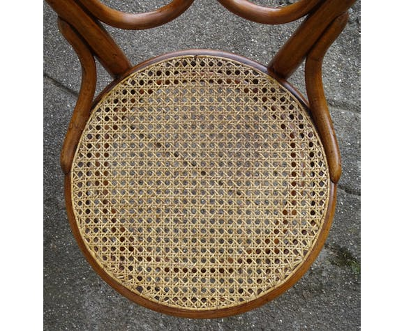 2 chaises Thonet N°20 vers 1875 cannées bistrot
