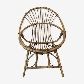 Vintage rattan armchair
