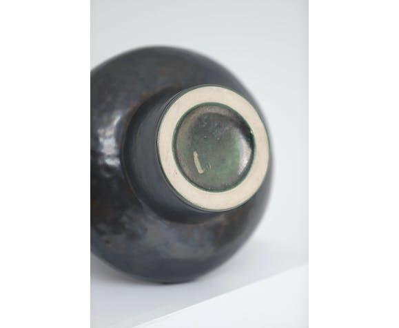Vase en céramique noire 1960S