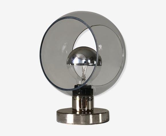 Lampe années 70 en verre peint   Selency
