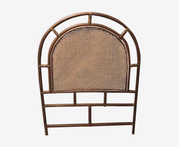 t te de lit en rotin et cannage vintage pour lit 1. Black Bedroom Furniture Sets. Home Design Ideas