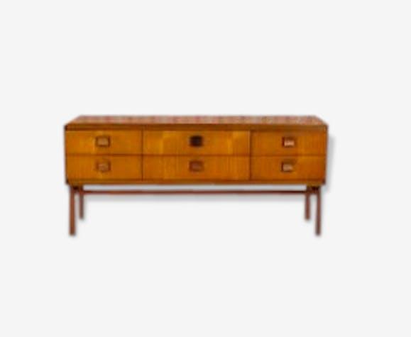 commode enfilade basse design scandinave en teck vintage. Black Bedroom Furniture Sets. Home Design Ideas