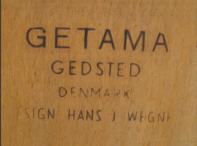 Lit double danois teak & cane par Hans Wegner pour Getama années 1950
