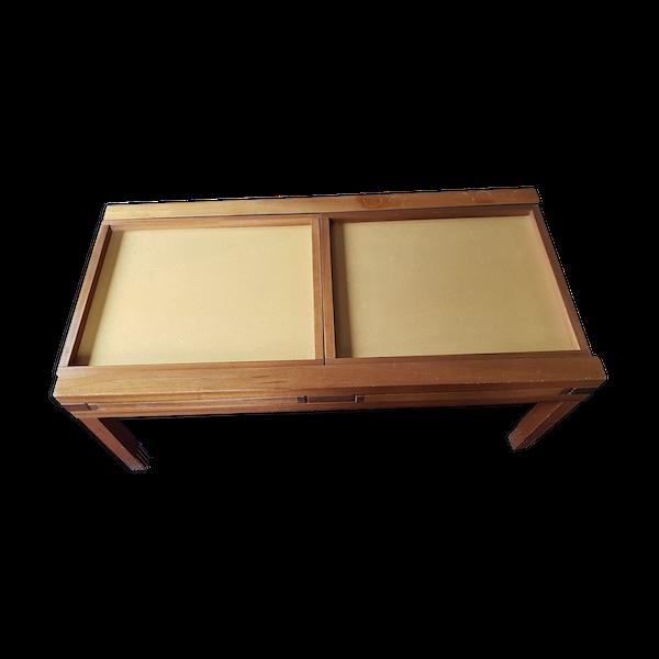 Table basse en bois modulable et transformable en table salle à manger