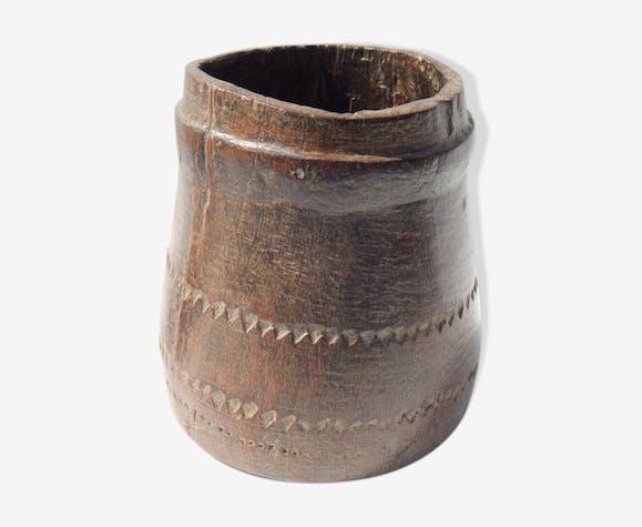 Pot mesure kerala vieux teck ancienne