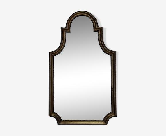 Miroir ancien doré biseauté 38x64cm