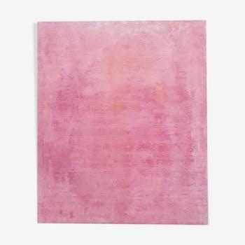 Tableau art contemporain rose