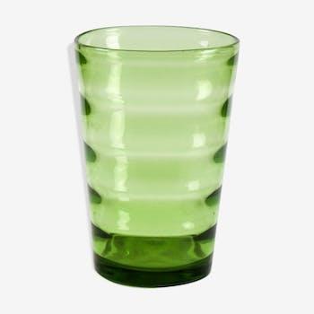 Vase art déco en verre soufflé de Whitefriars