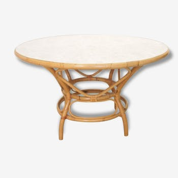 Table en rotin Seventies Rohe
