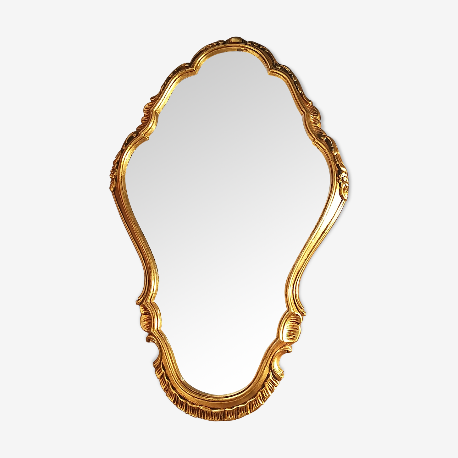 Wood golden mirror 65 x 40 cm