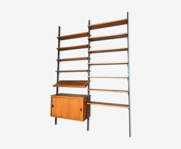 étagère Modulable Teck Et Métal Design Scandinave 1 Bois