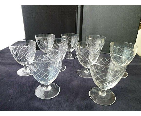 Set de 6 verres a vin en cristal
