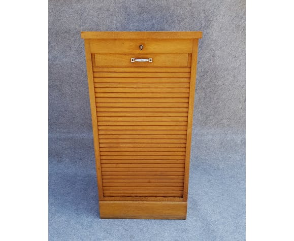 Former small oak curtain cabinet with 1 door