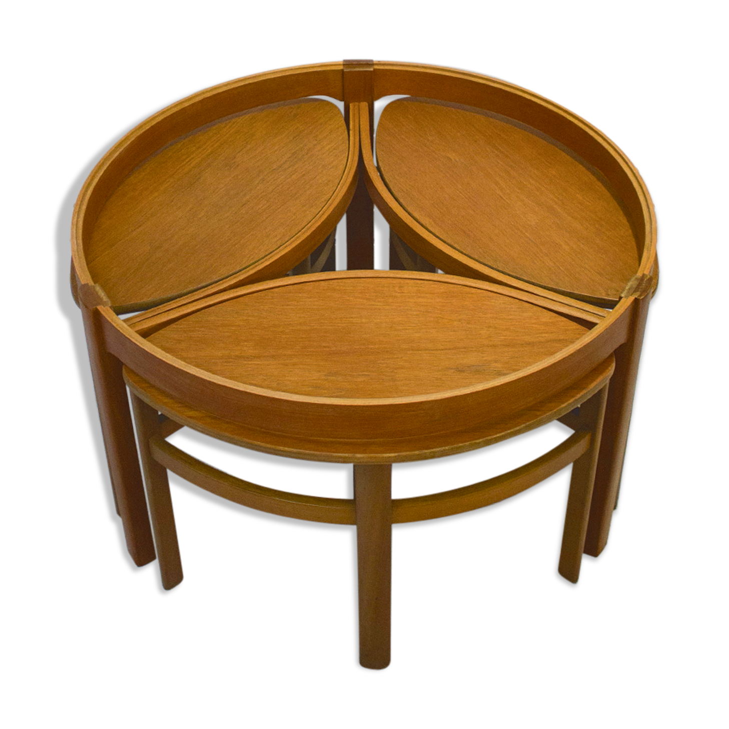 5614 Trinity Table Top Model Trim Table Set From Nathan 1960   Teak   Brown    Scandinavian   Cn0l4aR