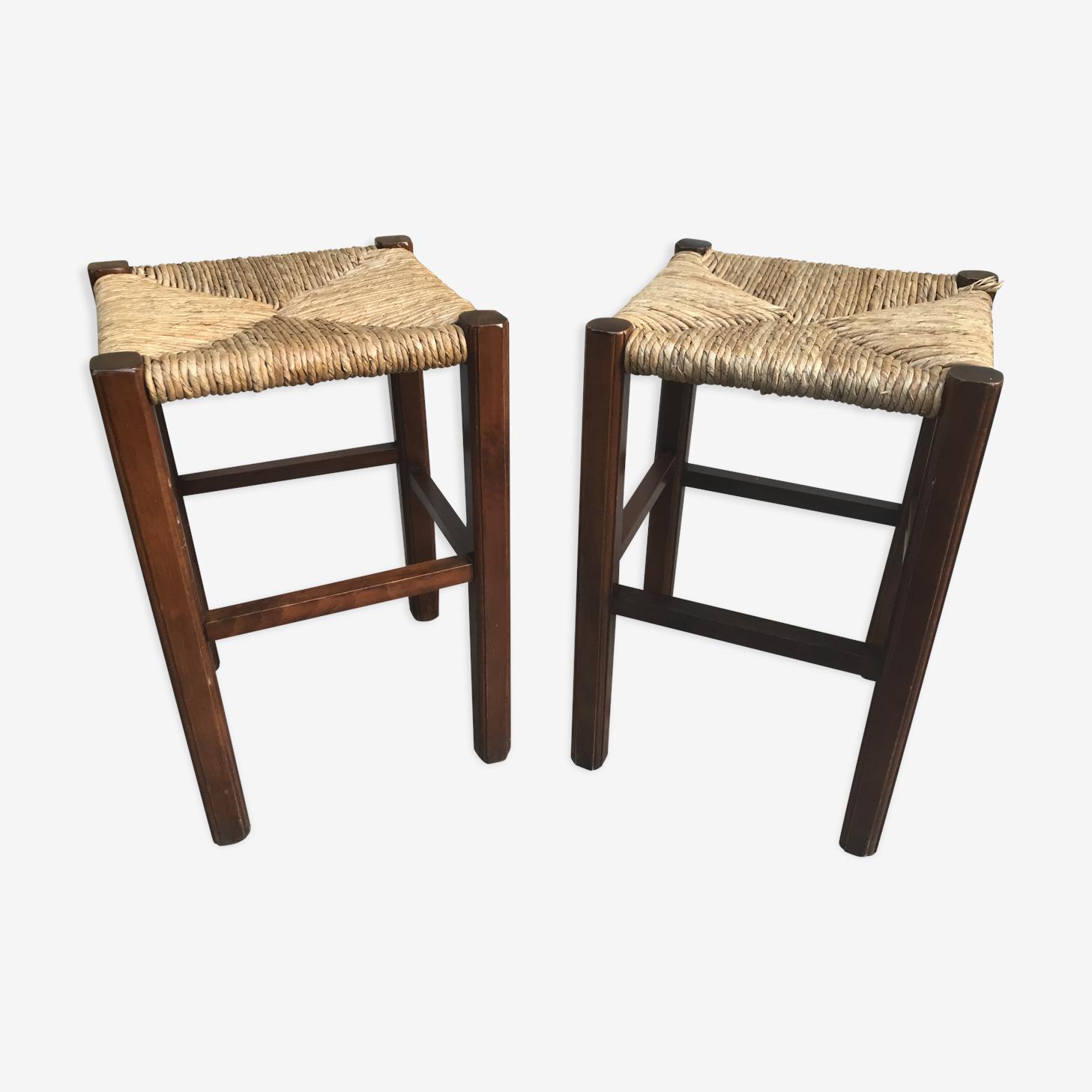 Pair of old stools wood