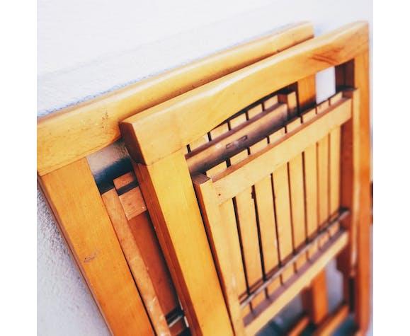 Série de 4 chaises pliantes par Aldo Jacober - années 60