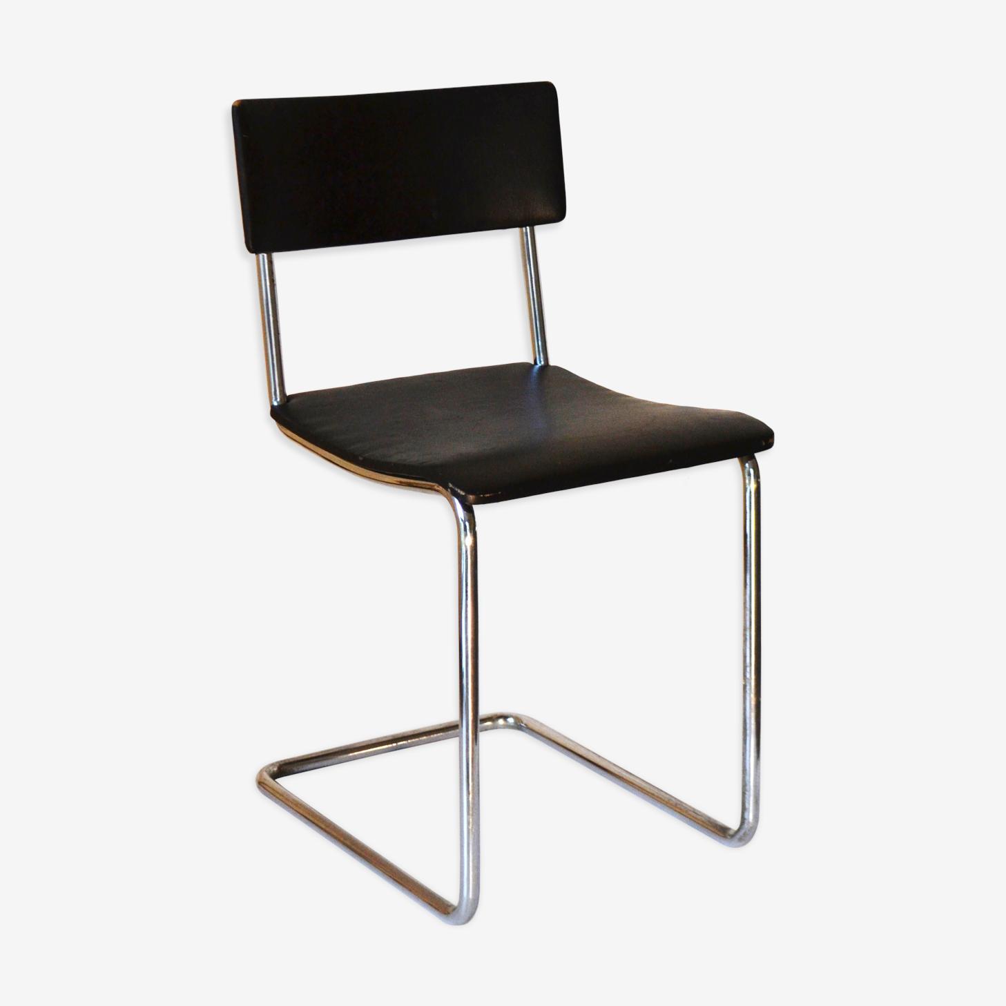 Chaise de modèle n ° 36 par D3 Rotterdam style bauhaus des années 1930