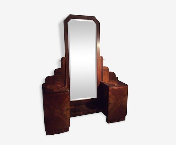miroir psych coiffeuse art d co vintage 1930 1940 bois mat riau bois couleur vintage. Black Bedroom Furniture Sets. Home Design Ideas