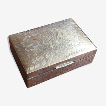 Wooden and brass box