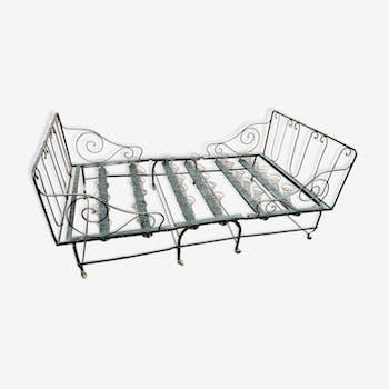 lit cage d 39 enfant fer noir classique 135272. Black Bedroom Furniture Sets. Home Design Ideas